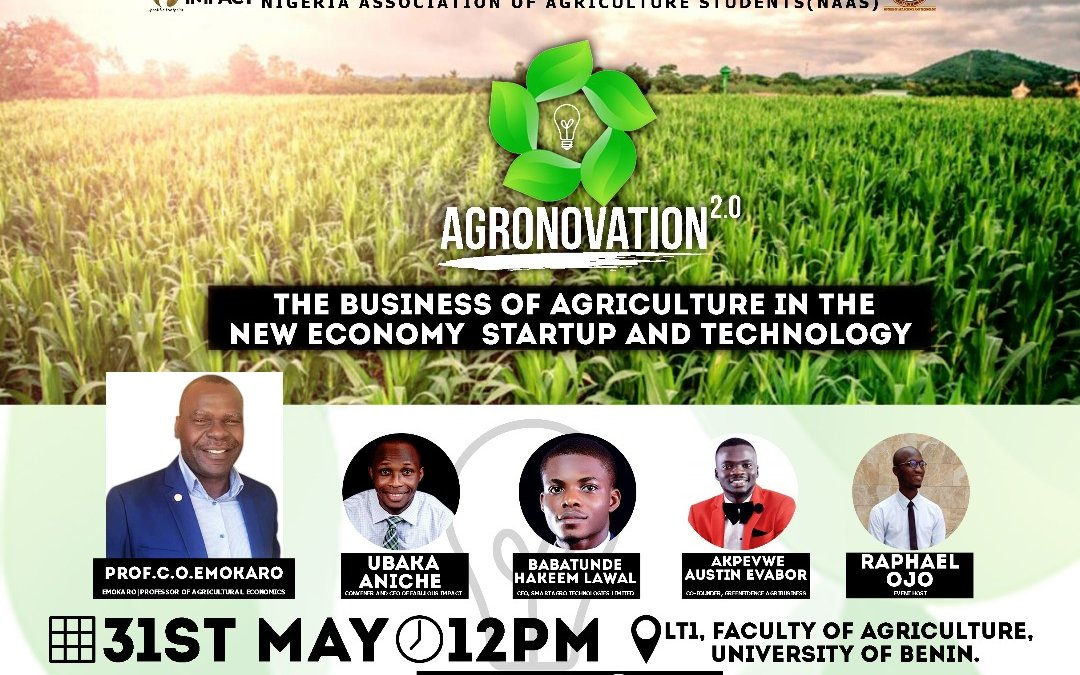 THE BUSINESS OF AGRICULTURE IN THE NEW ECONOMY – STARTUP & TECHNOLOGY